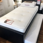 3ft Faux Leather Guest Bed Frame with Trundle Bed