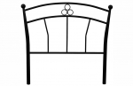 3ft Summer Metal Headboard in Black