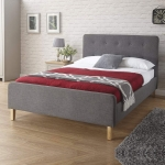 4ft 6 Ashbourne Grey Upholstered Bedstead