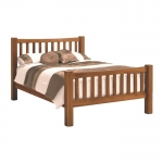 4ft 6 Country Oak Slatted Bedstead