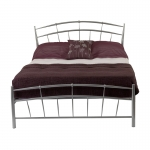 4ft 6 Crosby Silver Bed Frame