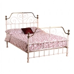 4ft 6 Olivia Cream and Brass Bed Frame