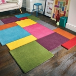 Abstract Collage Multi Rug