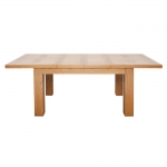 American Oak Large Extending Table with 6 Chairs