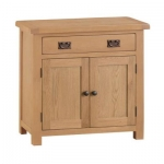 Country Oak 2 Door 1 Drawer Sideboard