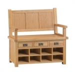 Country Oak Monks Bench