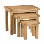 Country Oak Nest 3 Tables