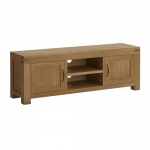 Hand Crafted Oak Large TV Unit