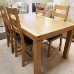 Hand Crafted Oak Extending Table and 4 Dining Chairs