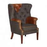 Kensington Chair Moreland Harris Tweed