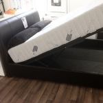 Leather Look Ottoman Lift Bed (4ft 6)