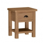 Royal Oak Lamp Table with Draw