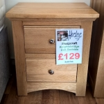 Sleepcraft Knightsbridge 2 Drawer Bedside Cabinet