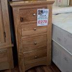 Sleepcraft Knightsbridge Tall Narrow 4 Drawer Chest