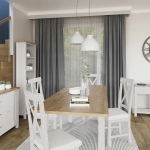 Truffle Oak Extending Table and 4 Chairs