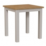 Truffle Oak Fixed Top Table and 2 Chairs