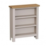 Truffle Oak Small Wide Bookcase