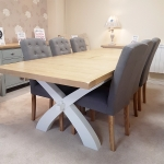 Two Tone 1.8m Extending Table with 6 Chairs