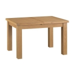 Country Oak 1.25m Extended Dining Table