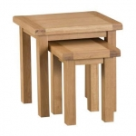 Country Oak Nest 2 Tables